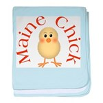 Maine Chick baby blanket