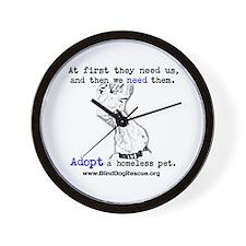 Unique Homeless pets Wall Clock