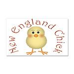 New England Chick Car Magnet 20 x 12