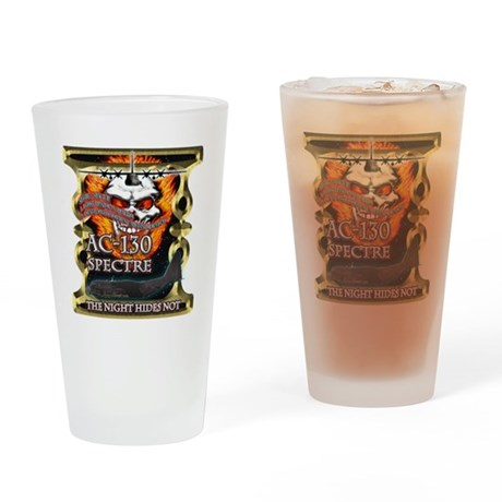 USAF AC-130 Spectre Flaming S Drinking Glass