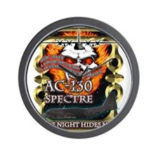 USAF AC-130 Spectre Flaming S Wall Clock