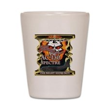USAF AC-130 Spectre Flaming S Shot Glass