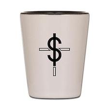 Money Cross Shot Glass