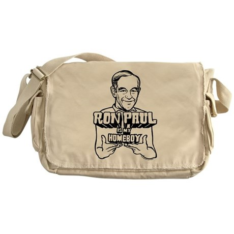 Ron Paul Is My Homeboy Messenger Bag