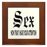 Sex Now Framed Tile