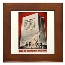 """""""Books cannot be killed by fi Framed Tile"""