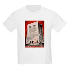 """""""Books cannot be killed by fi Kids T-Shirt"""