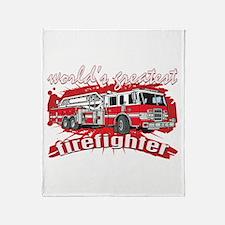 Worlds Greatest Firefighter Throw Blanket