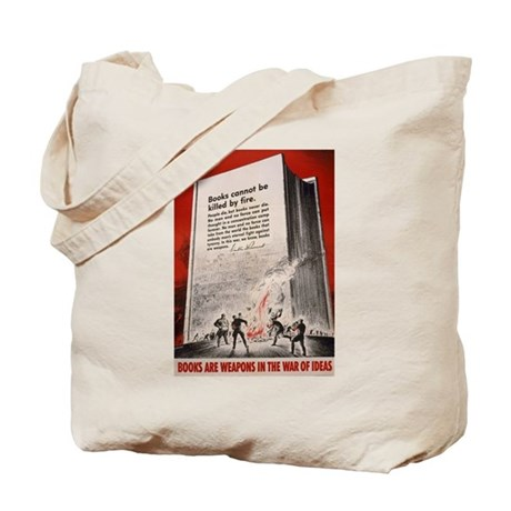 """""""Books cannot be killed by fi Tote Bag"""
