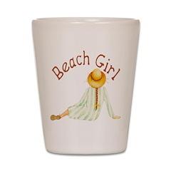 Beach Girl Shot Glass