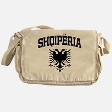 Albania Black Messenger Bag