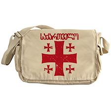 Georgia Distressed Messenger Bag