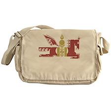 Mongol Horse Distressed Messenger Bag