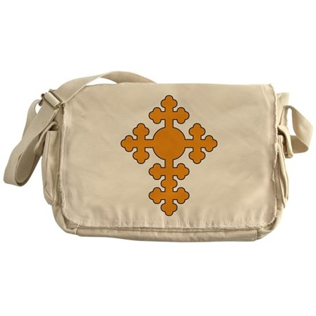 Romanian Cross Round Messenger Bag