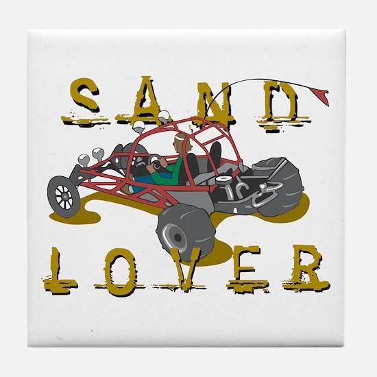 Sand Lover Dune Buggy Tile Coaster