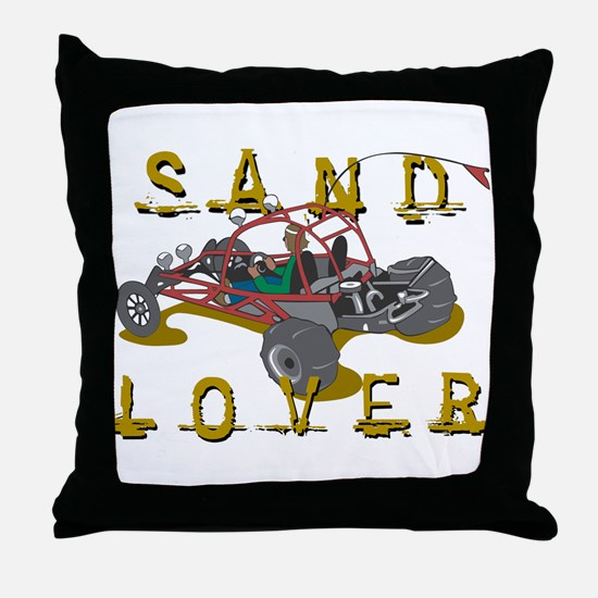 Sand Lover Dune Buggy Throw Pillow