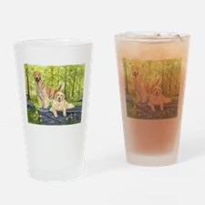 Golden Pair Drinking Glass