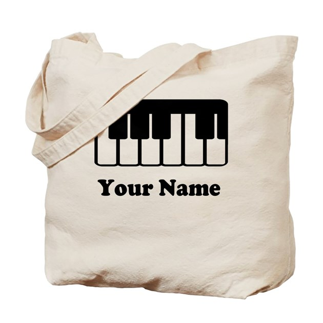 Personalized Piano Keyboard Tote Bag By Milestonesmusic
