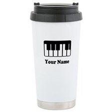 Personalized Piano Keyboard Travel Mug