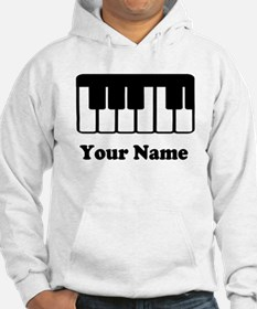 Personalized Piano Keyboard Hoodie