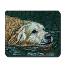 Golden Old Swimmer Mousepad