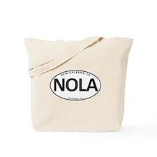 White Oval NOLA Tote Bag