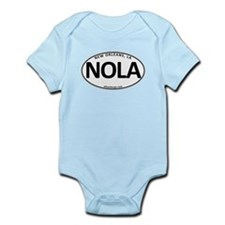 White Oval NOLA Infant Bodysuit