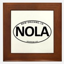White Oval NOLA Framed Tile