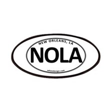 White Oval NOLA Patches