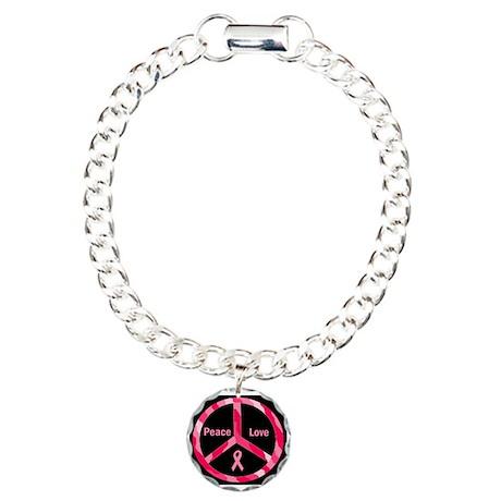 Peace Love Cure Charm Bracelet, One Charm
