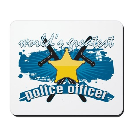 Worlds Greatest Police Officer Mousepad