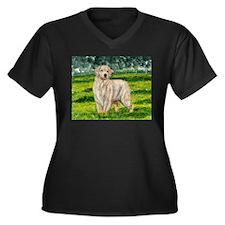Golden Girl Women's Plus Size V-Neck Dark T-Shirt
