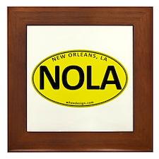 Yellow Oval NOLA Framed Tile