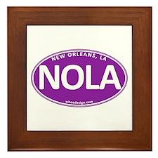 Purple Oval NOLA Framed Tile