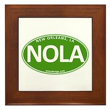 Green Oval NOLA Framed Tile