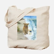 Golden Surf Dogs Tote Bag