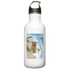 Golden Surf Dogs Sports Water Bottle