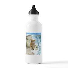 Golden Surf Dogs Water Bottle