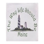 Maine State Motto Throw Blanket