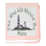 Maine State Motto baby blanket