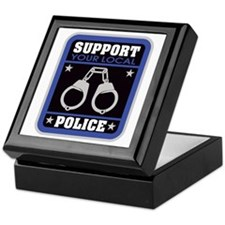 Support Your Local Police Keepsake Box