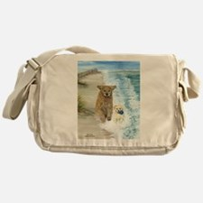 Golden Surf Dogs Messenger Bag