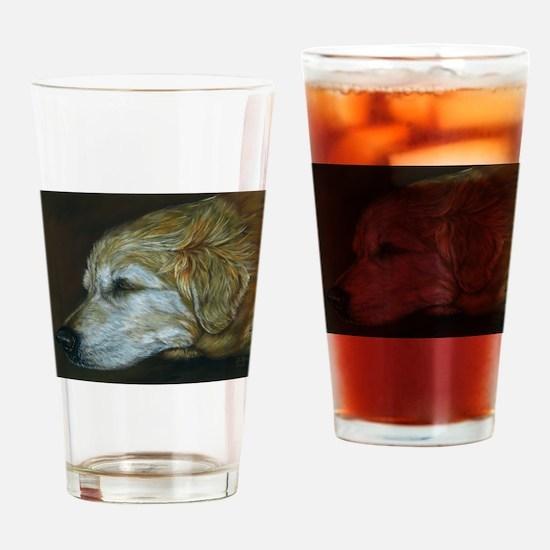 Golden Sleeper Drinking Glass
