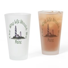 Maine State Motto Drinking Glass