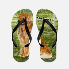 Golden Obedience Flip Flops