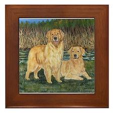 Golden Marsh Pair Framed Tile