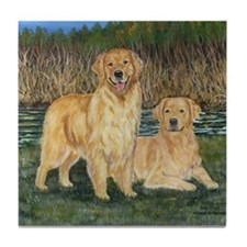 Golden Marsh Pair Tile Coaster