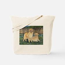 Golden Marsh Pair Tote Bag