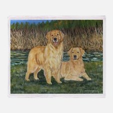 Golden Marsh Pair Throw Blanket