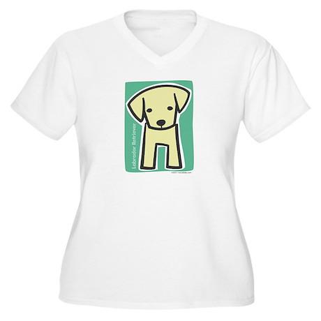 Labrador Retriever Women's Plus Size V-Neck T-Shir